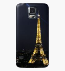 Eiffel Tower with Spotlight at Night Case/Skin for Samsung Galaxy