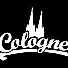 Cologne Classic mit Kölner Dom (Schwarz/Weiß) von theshirtshops
