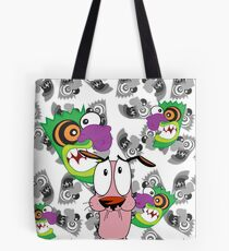 Courage the Cowardly Dog and the Ooga Booga Mask Tote Bag