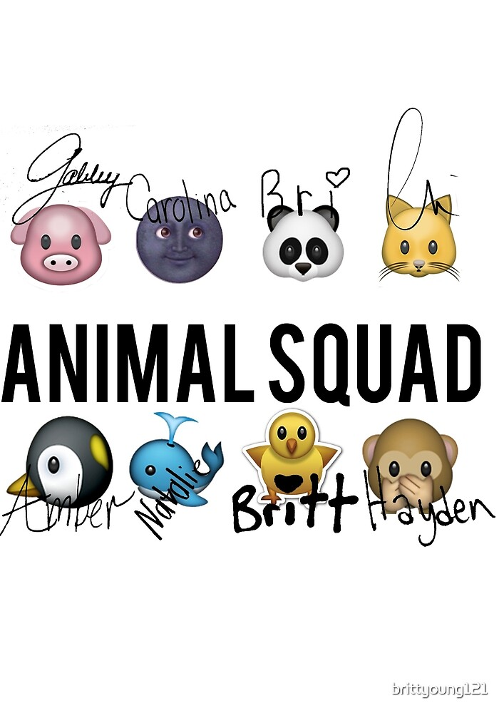 Animal Squad! Now with signatures! by brittyoung121