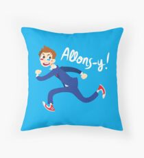 Allons-y! (full colour) Throw Pillow