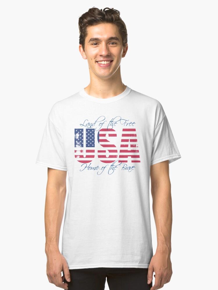 USA Patriotic Classic T-Shirt Front