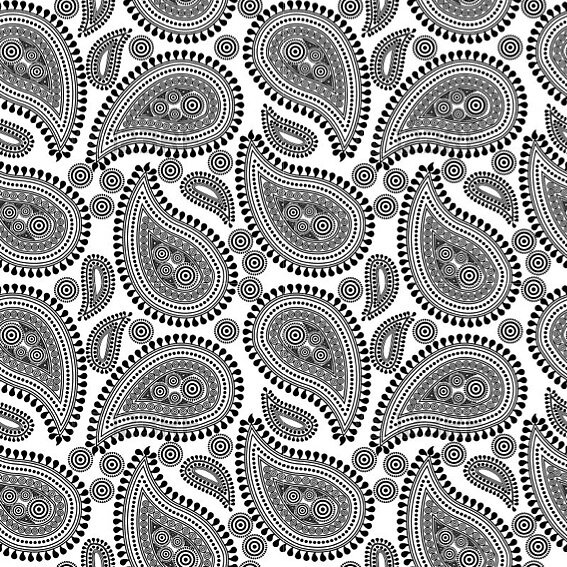 Paisley black and white by frogarts