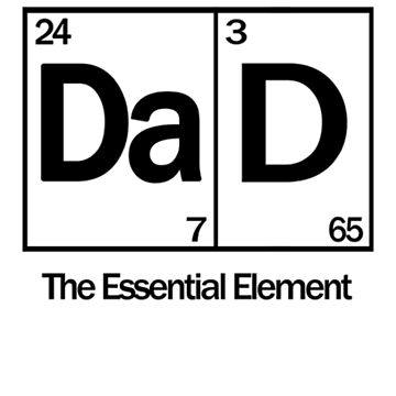 Dad The Essential Element by CaseDesign