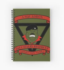 A Squadron 2nd Cavalry Regiment Spiral Notebook