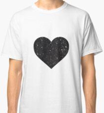 Black Sequin Heart Classic T-Shirt