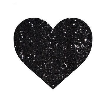 Black Sequin Heart by RosieAEGordon