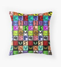 The Alphabet 2015/ Breathing in the Words Throw Pillow