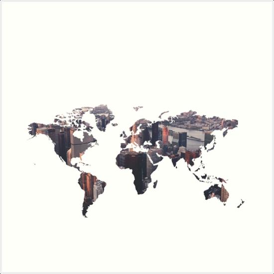 World Map - City by Talia Faigen