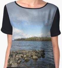 Spring Storm Over the River Chiffon Top