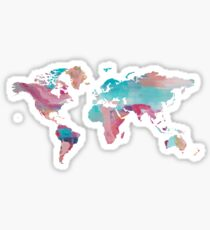 World Map - Paint Sticker