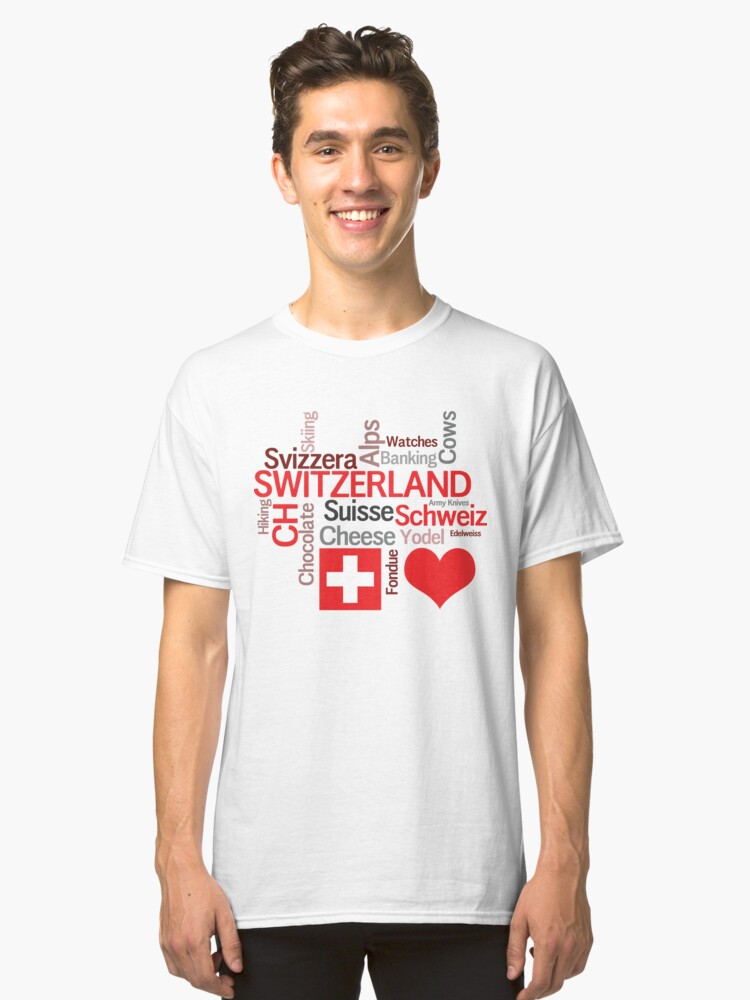 Things to Love About Switzerland Classic T-Shirt Front