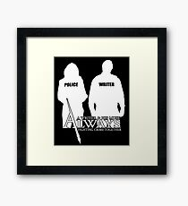 Castle ABC Always Writer & His Muse Framed Print