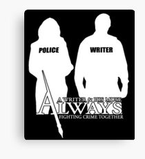 Castle ABC Always Writer & His Muse Canvas Print
