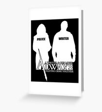 Castle ABC Always Writer & His Muse Greeting Card