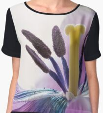 Stamens and Pistil of a Pink Fringed Tulip Chiffon Top