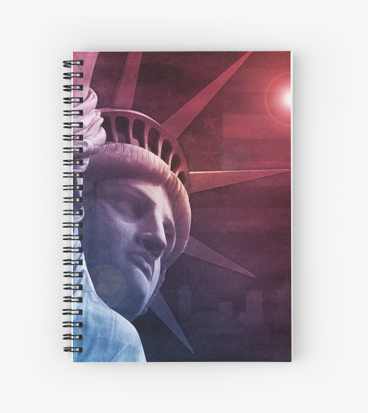 Patriotic Statue of Liberty by morningdance