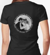 Caskett - May The Music Never Stop Women's Fitted V-Neck T-Shirt