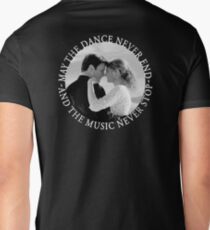 Caskett - May The Music Never Stop Mens V-Neck T-Shirt