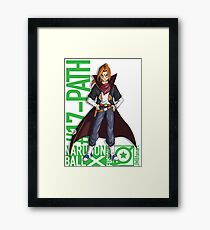 17# Animal Path (Android 17 and Animal Path fusion) Framed Print