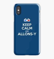 Keep calm and allons-y iPhone Case