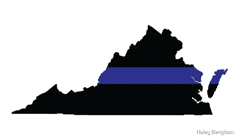 Thin Blue Line - Virginia (Simple) by Haley Bengtson