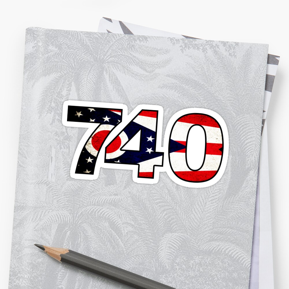 740 AREA CODE ATHENS OHIO FLAG ZANESVILLE by MyHandmadeSigns