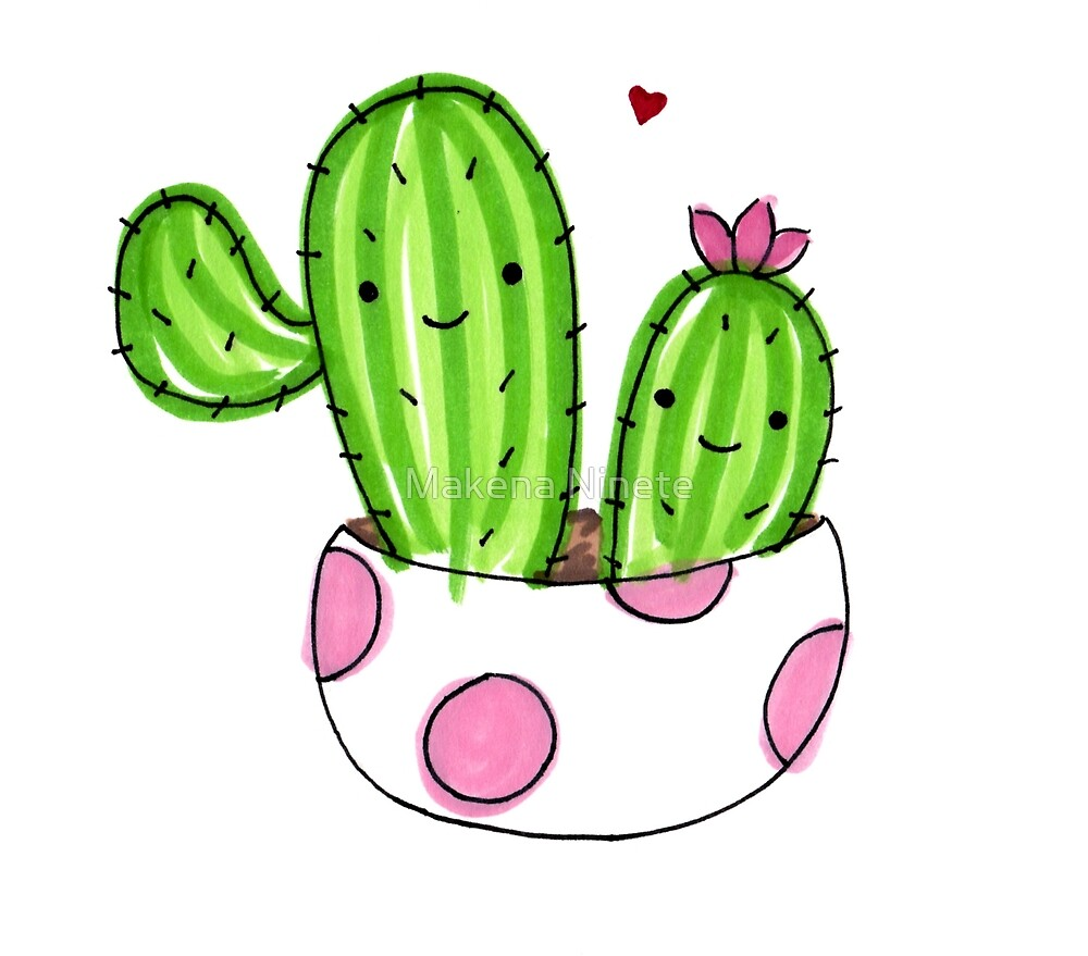 Friendly cacti  by Makena Ninete