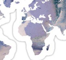 World Map - Purple Marble Sticker