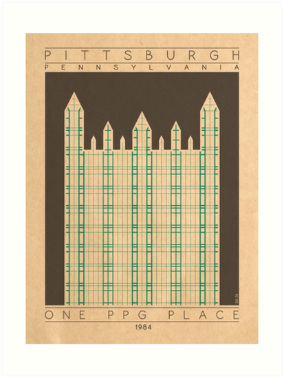 One PPG Place - 1984 (Green) by HendersonGDI