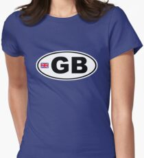 GB - GREAT BRITAIN - BUMPER STICKER Womens Fitted T-Shirt