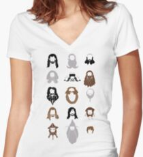 The Bearded Company Women's Fitted V-Neck T-Shirt