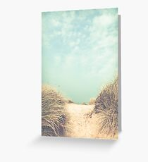 The way to the beach Greeting Card