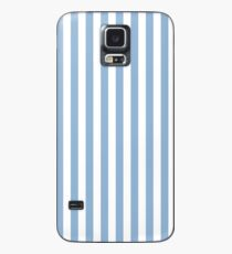 Designer Fall 2016 Color Trends - Airy Blue and White Sailor Stripe Case/Skin for Samsung Galaxy