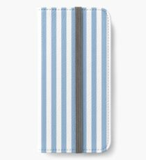 Designer Fall 2016 Color Trends - Airy Blue and White Sailor Stripe iPhone Wallet/Case/Skin