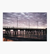 A lonely man on the pier.  Photographic Print
