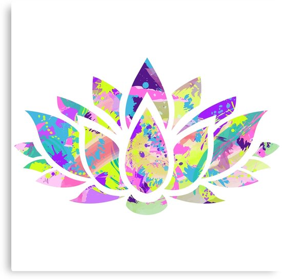 Abstract colorful lotus flower canvas prints by chandler milillo abstract colorful lotus flower mightylinksfo Images