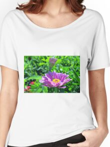 Blooming Purple Flowers Women's Relaxed Fit T-Shirt