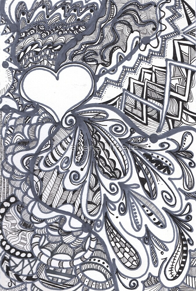Heart Accent Doodle by Makena Ninete
