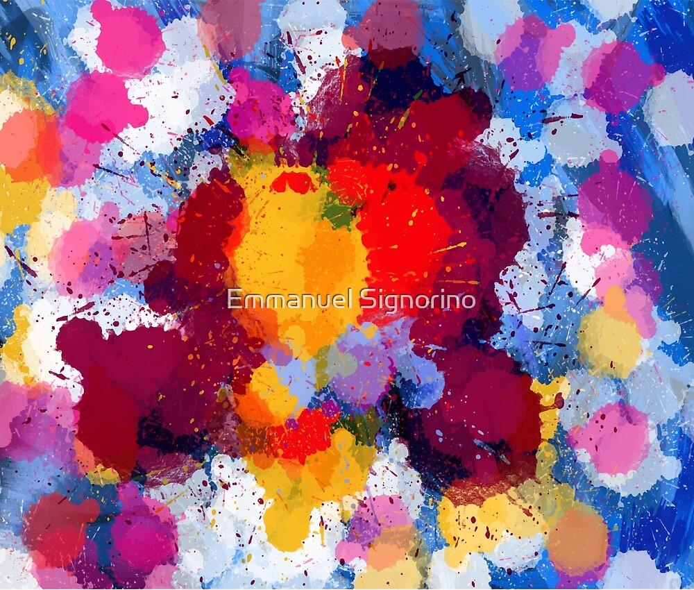 Colored rain drops of life by Emmanuel Signorino