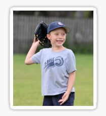 Happy T-Ball Player Sticker