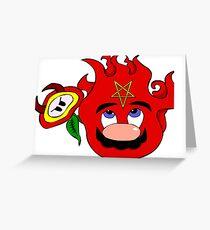satan mario flower power Greeting Card