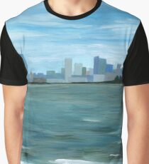 Boston from Georges Island Graphic T-Shirt