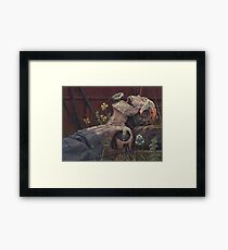 On the activities of primates and passerines Framed Print