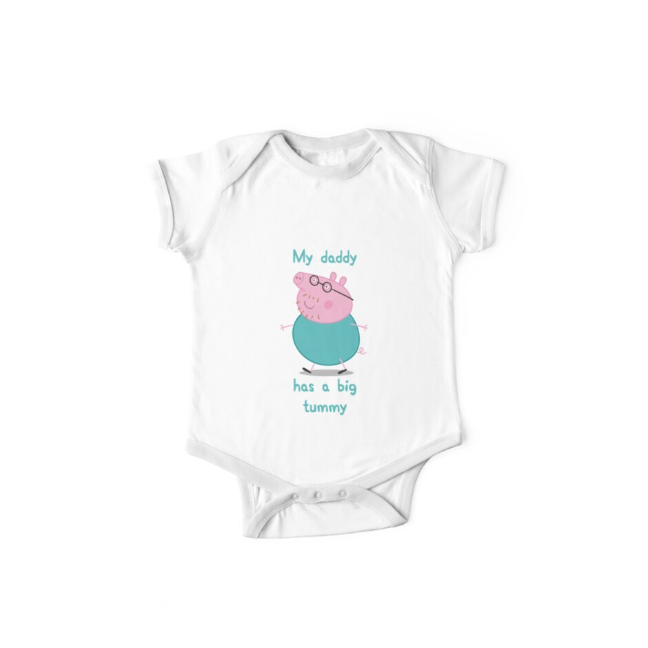 Quot Daddy Pig Big Tummy Peppa Pig Baby Clothes Quot One Piece