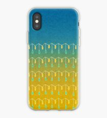 Droplets, Blue and Yellow iPhone Case