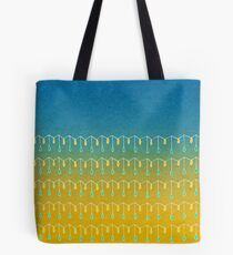 Droplets, Blue and Yellow Tote Bag