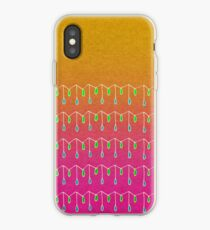 Droplets, Orange and Pink iPhone Case