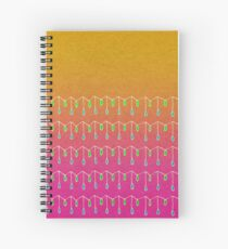 Droplets, Orange and Pink Spiral Notebook