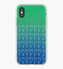 Droplets, Green and Blue iPhone Case